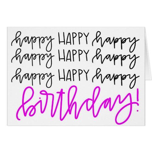 Calligraphy Happy Birthday Card Joy By Jess