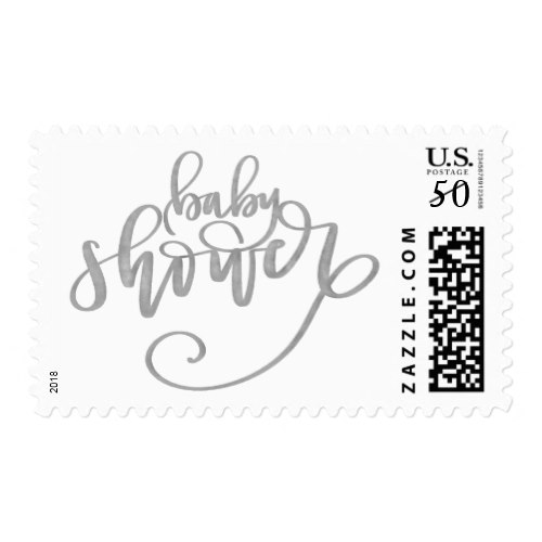 Calligraphy Baby Shower Stamp ...