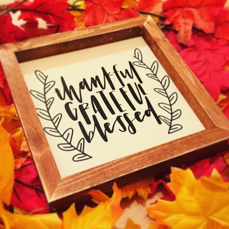 Thankful Grateful Blessed Viny