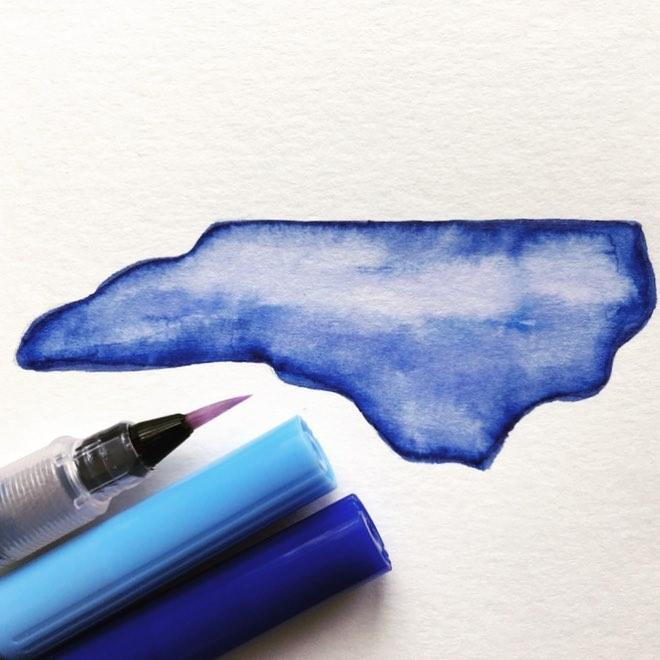 Watercolor North Carolina