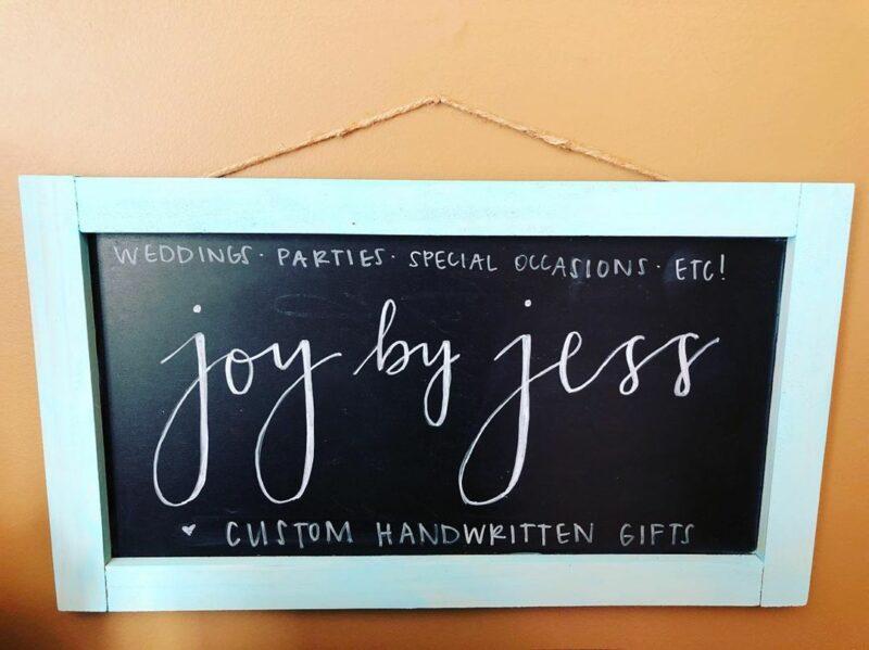 Joy by Jess Studio Chalkboard Sign