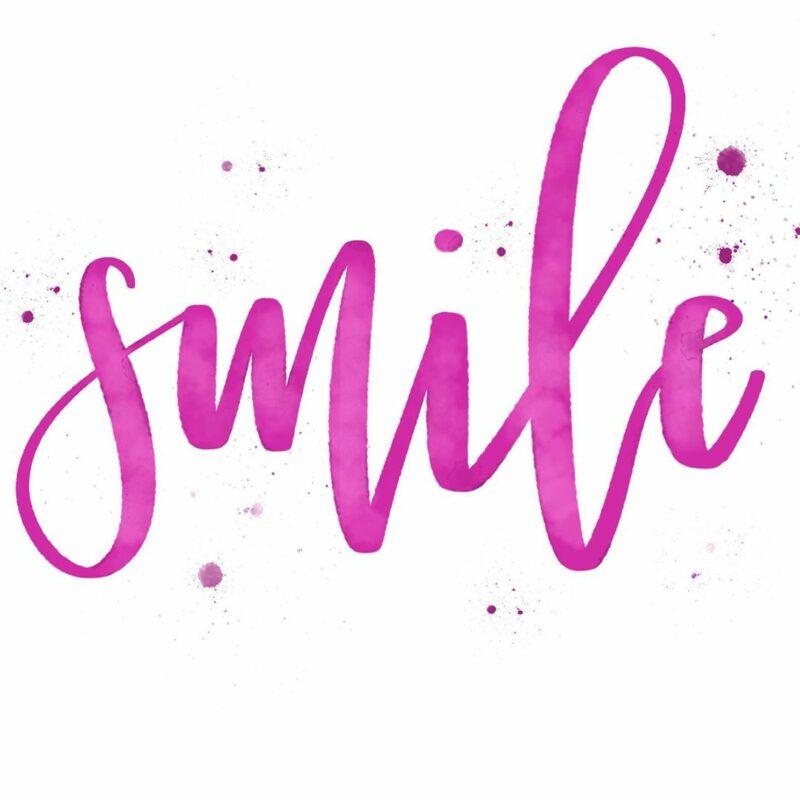 Smile Modern Calligraphy