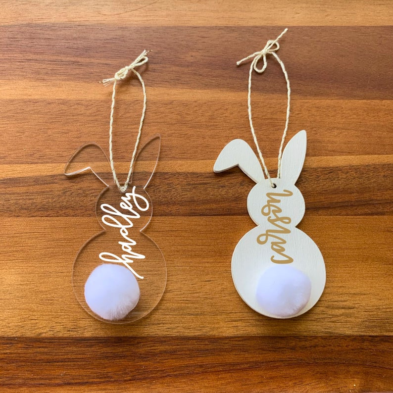 Bunny Easter Basket Tags