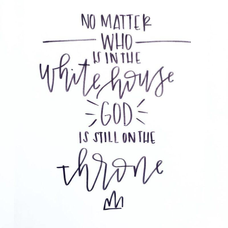 God is still on the throne
